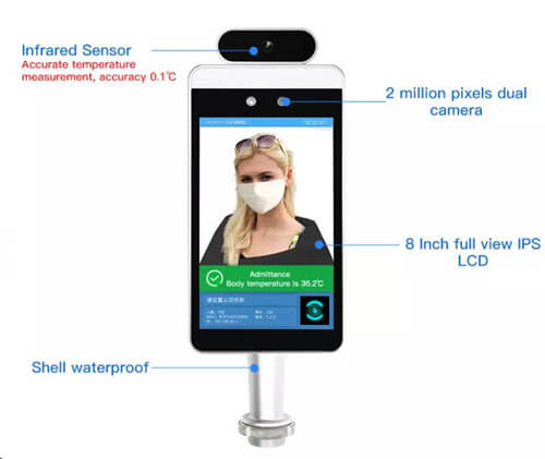 face recognition with thermometer factory