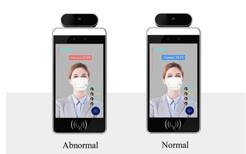 face recognition with thermometer